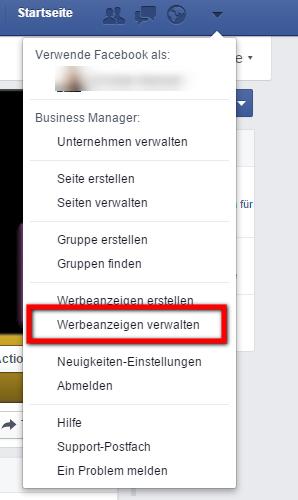 Hier finden Sie die Nummer des Facebook Werbekontos