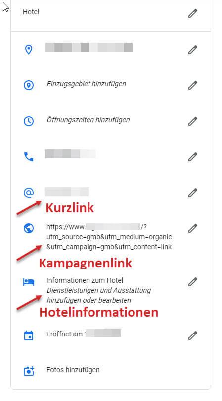 Google My Business Profil für Hotels